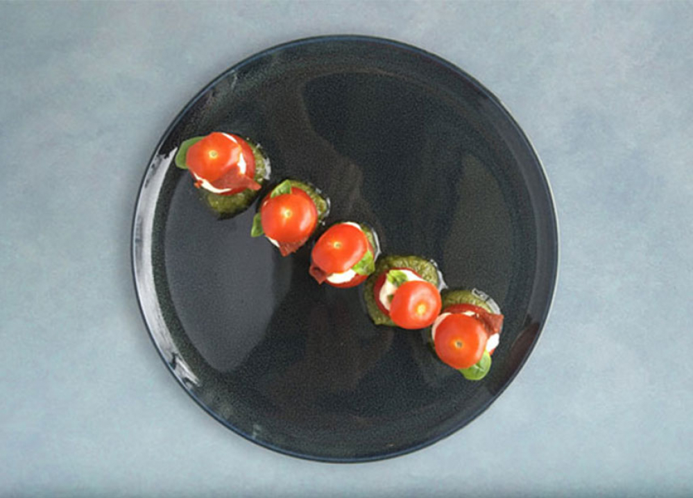 Recipe Tomate et crème mozzarella au pesto Genovese