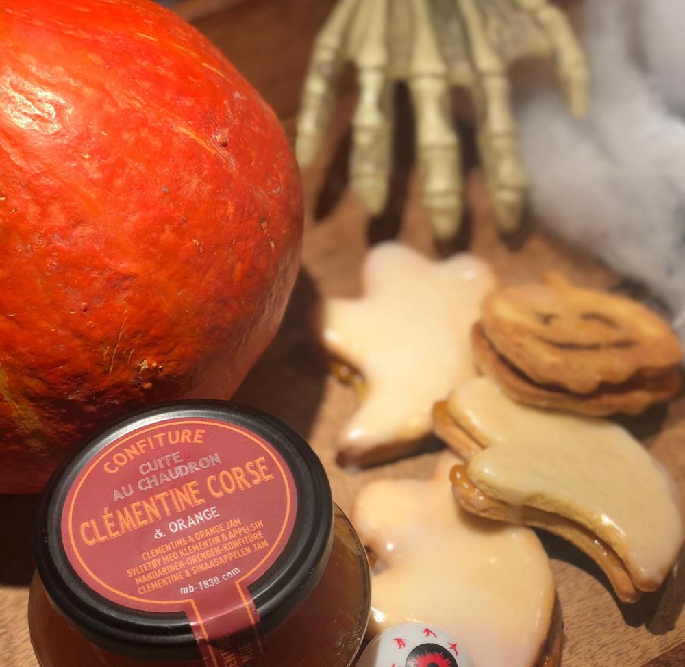 Recipe Sablés d'Halloween à la confiture à la clémentine & orange