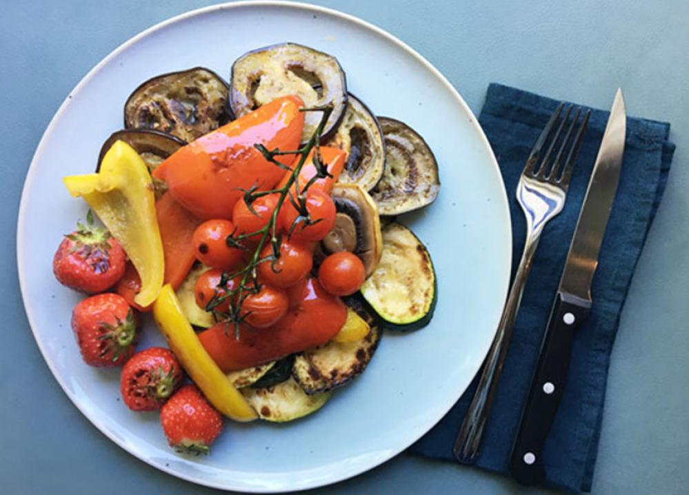 Recipe Légumes grillés à la vinaigrette aux épices