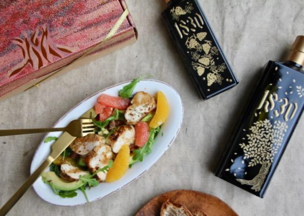 Recipe Salade de poulet aux agrumes et au poivre Timut