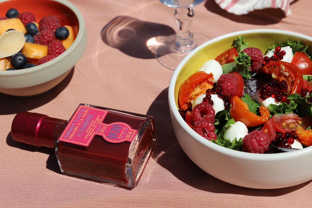 Recipe Salade fraîcheur au vinaigre à la pulpe de framboise