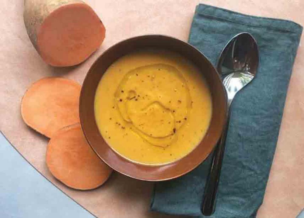 Recipe Soupe à la crème de marrons, patate douce & huile d'olive à la truffe