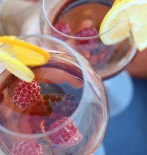 Cocktail mojito framboise citron