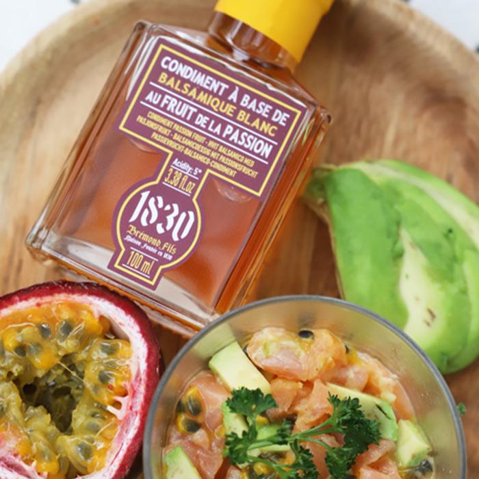 Recipe Tartare de Saumon, avocat & balsamique aux fruits de la passion