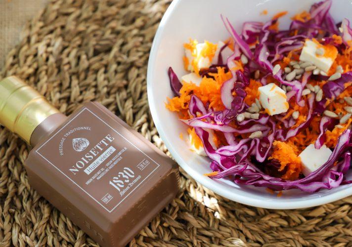 Salade de choux et huile de noisette